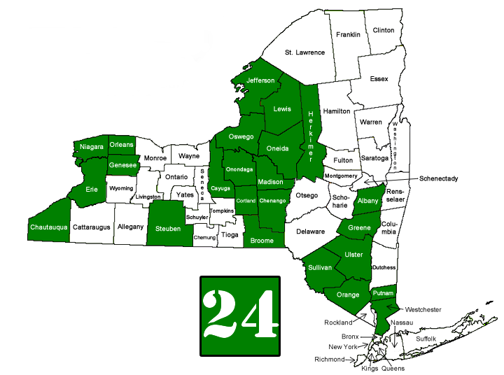 PS&Ed Approved NY Counties
