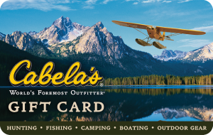 WIN a $50 Cabela's Gift Card